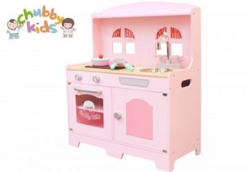 鄉村風木製廚房-玫瑰粉