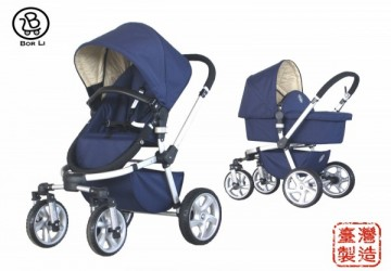 【台灣製】CLASSIC鄉村越野 四輪雙向多功能嬰兒車全配(含提籃,座椅,蚊帳,雨罩)