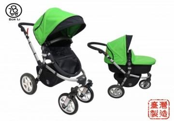 【MIT台灣製】DOIS美式越野 四輪多功能雙向嬰兒車全配 (含平躺睡籃, 座椅, 蚊帳, 雨罩)