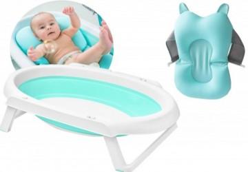 babyhood折疊澡盆+寶寶沐浴墊