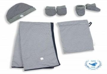 Martin House 打包外帶新生兒禮盒 – 海軍藍 / 灰 (條紋)