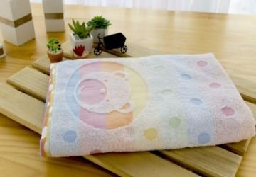 美國棉彩虹熊浴巾