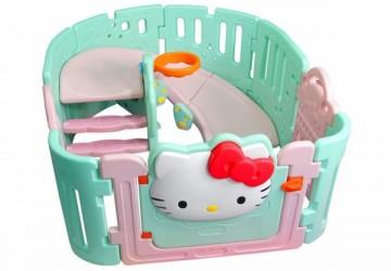 Hello Kitty兒童遊戲圍欄+溜滑梯