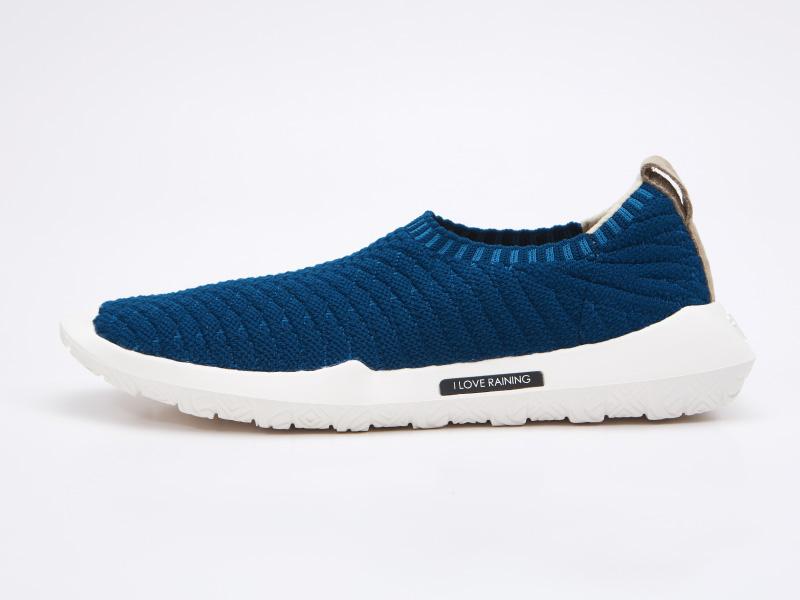 透氣針織運動休閒鞋-時尚針織(希臘藍)