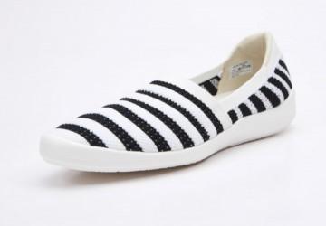 便利平口織帶懶人鞋-波光粼粼(粼粼黑)