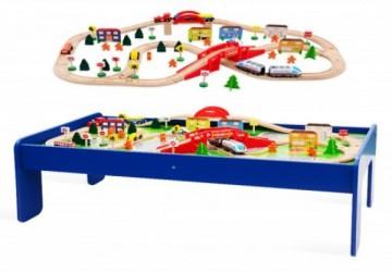 90pcs木製火車軌道桌