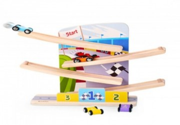 木製競賽滑車玩具