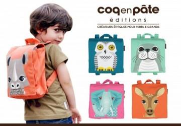 【COQENPATE】法國有機棉無毒環保布包 - 小童寶包幫