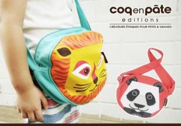 【COQENPATE】法國有機棉無毒環保布包-小圓圓斜背包