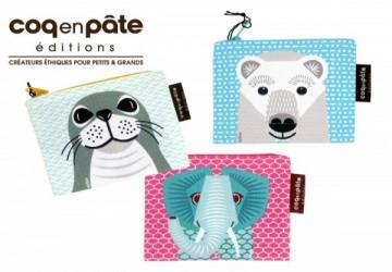 【COQENPATE】法國有機棉無毒環保布包-零錢包