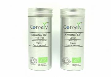 Comely ®卡莫莉淨化清菌精油香氛超值組-檸檬+茶樹有機精油10ml*2入 (附有機證明)