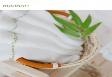 Mooroo 100% 竹纖維 紗布巾-口腔清潔專用 (ㄧ組5入)
