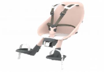 日本 Urban Iki 自行車兒童前置座椅-櫻花粉