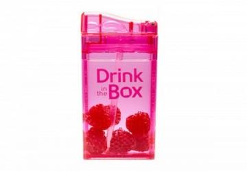 加拿大Drink in the box 兒童戶外方形吸管杯(235ml)粉紅