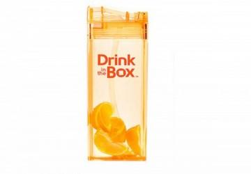 加拿大Drink in the box 兒童戶外方形吸管杯(355ml)橘