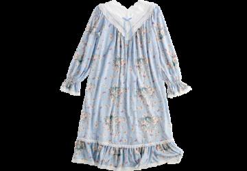 歐風蕾絲公主洋裝-藍色碎花