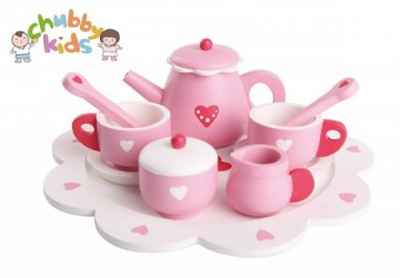 粉紅愛心下午茶組