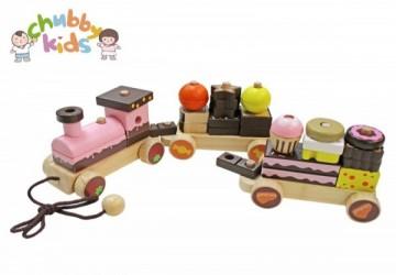 木製串珠蛋糕火車