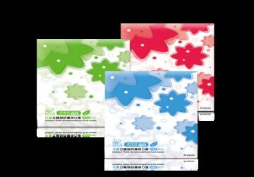 美妍版-台製幼童立體防塵口罩(藍/綠/粉)